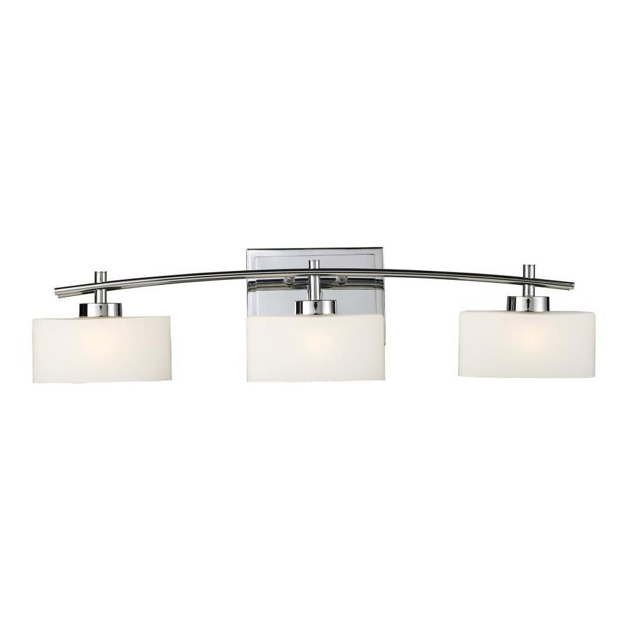 Westmore Lighting Hudson 3-Light Polished Chrome Rectangle Vanity Light