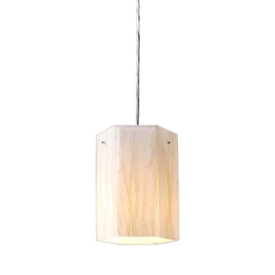 Westmore Lighting 6-in Polished Chrome Mini Textured Glass Pendant