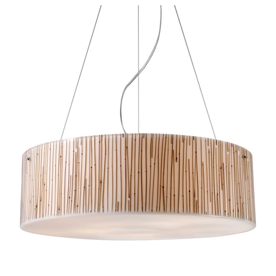 Westmore Lighting Malabon 24-in Polished Chrome Mini Textured Glass Pendant