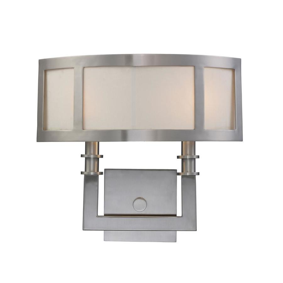 Westmore Lighting 14.5-in W 2-Light Satin Nickel Pocket Hardwired Wall Sconce