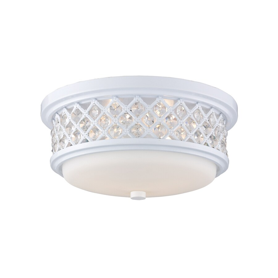 Westmore Lighting 13-in W White Ceiling Flush Mount