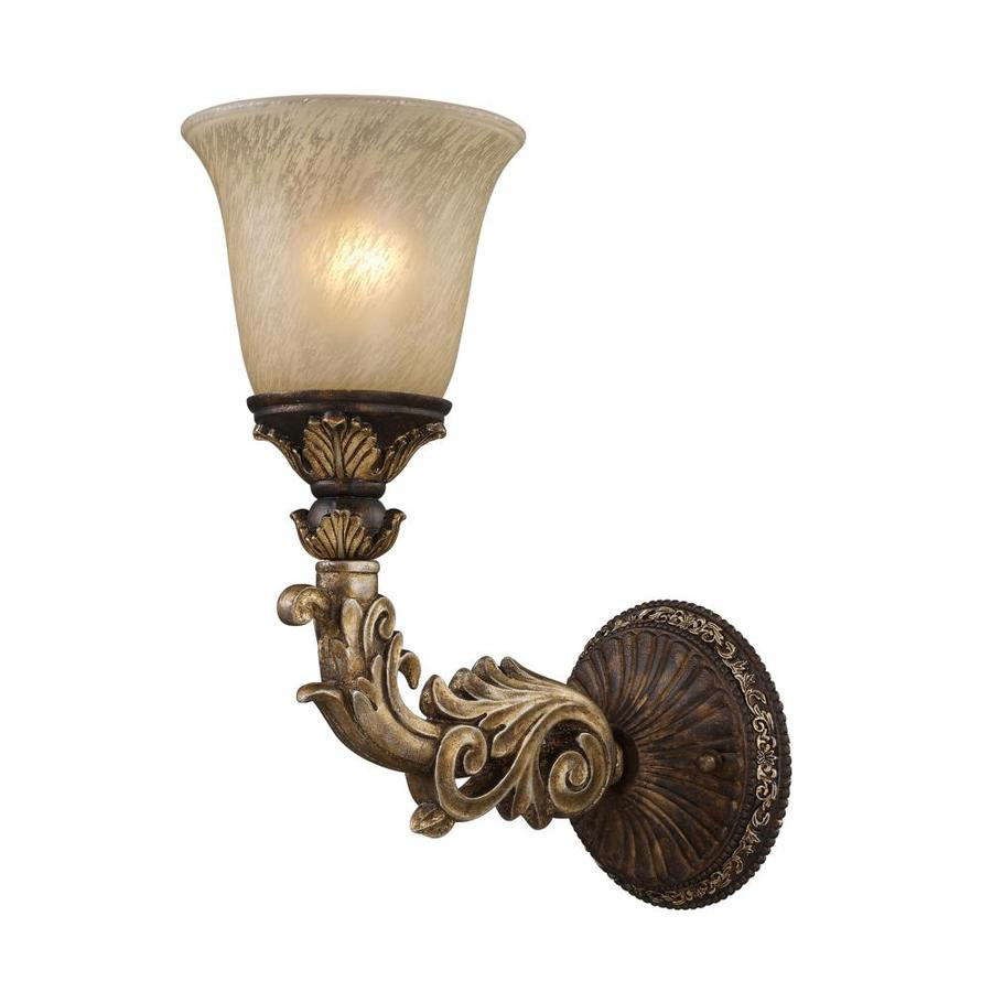 Westmore Lighting 6-in W 1-Light Burnt Bronze Arm Hardwired Wall Sconce