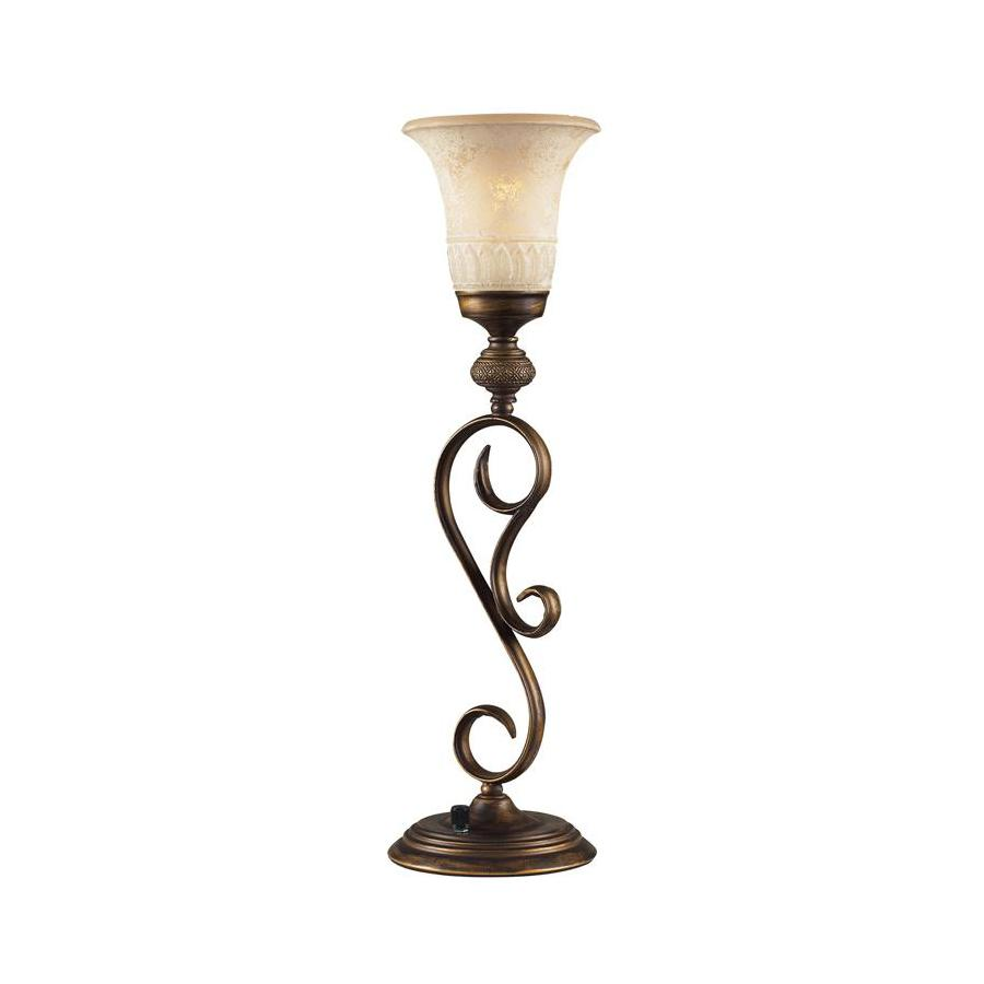 Westmore Lighting 22-in Weathered Umber Touch On/Off Indoor Table Lamp with Glass Shade