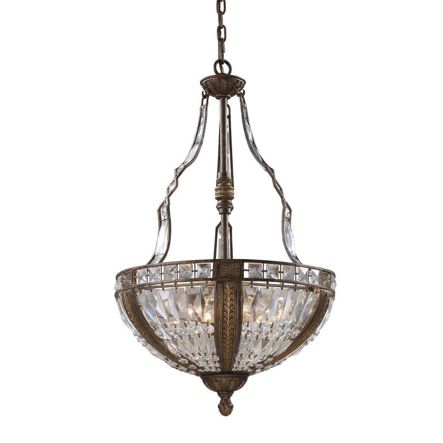 Westmore Lighting So Paulo 19-in Antique Bronze Single Crystal Pendant