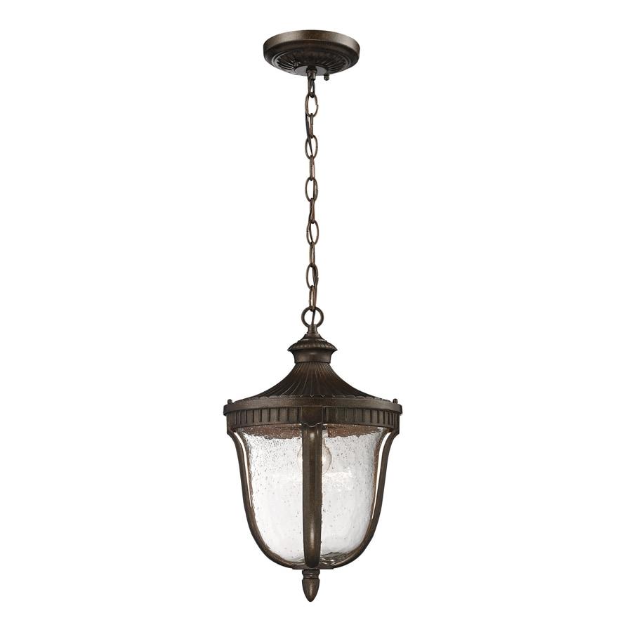 Westmore Lighting Seville 18-in Hazelnut Bronze Outdoor Pendant Light
