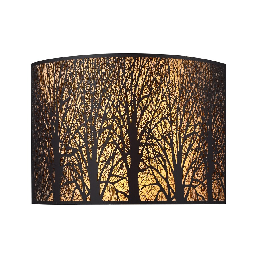 Westmore Lighting 11-in W 1-Light Aged Bronze Pocket Hardwired Wall Sconce