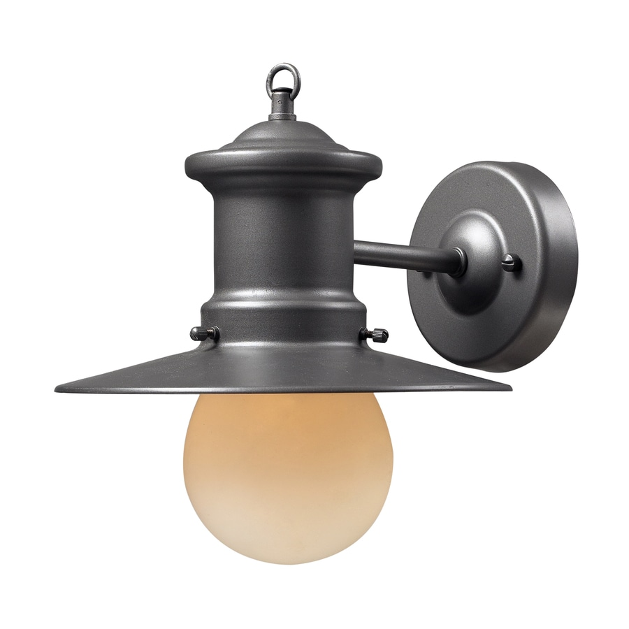 Westmore Lighting 10-in H Graphite Outdoor Wall Light