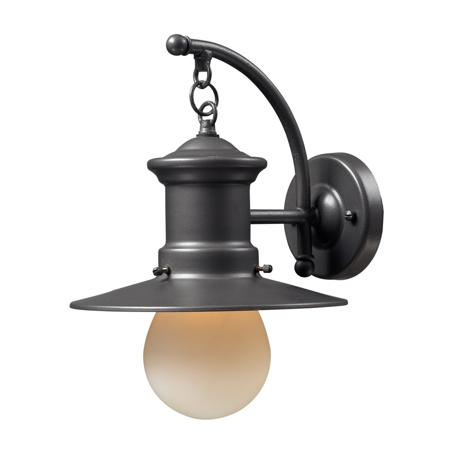 Westmore Lighting Del Mar 12-in H Graphite Outdoor Wall Light