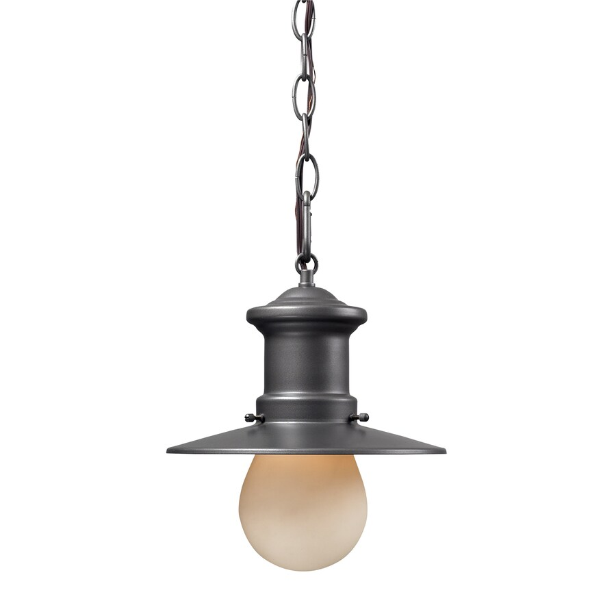 Westmore Lighting 10-in H Graphite Outdoor Pendant Light
