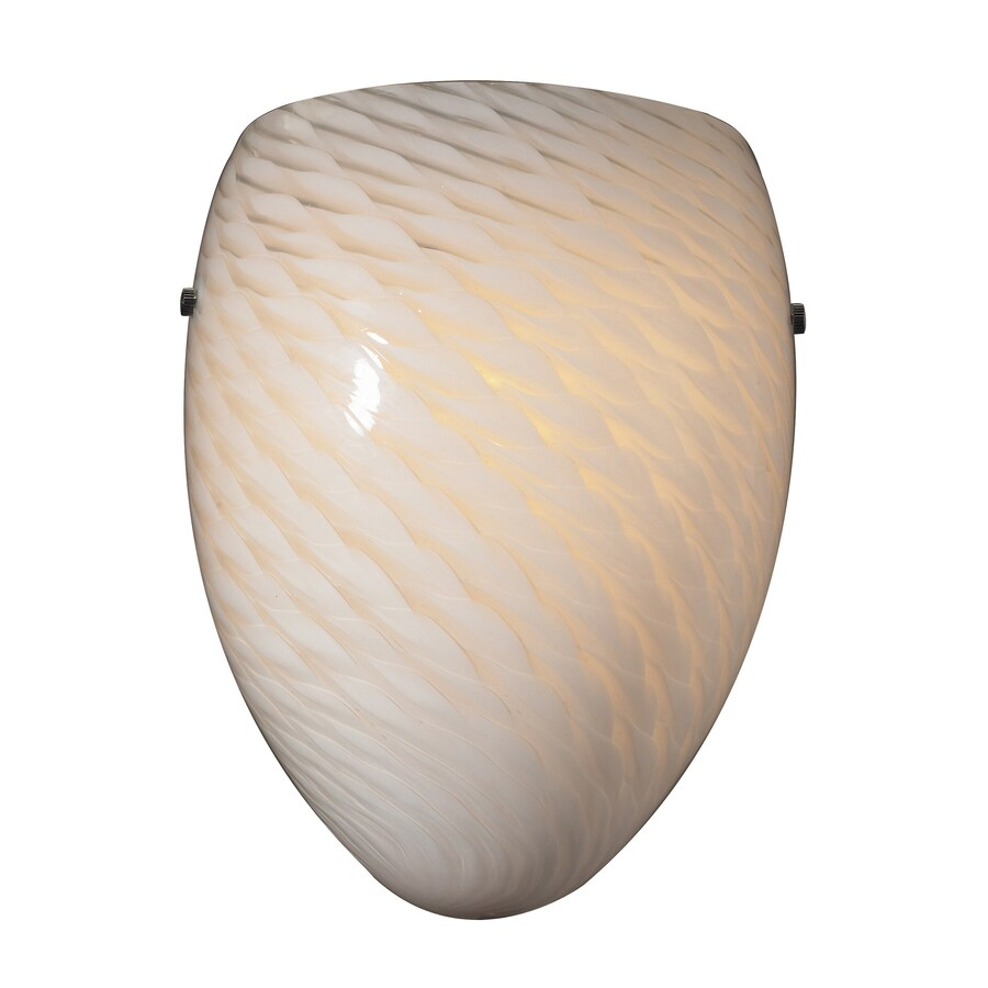Westmore Lighting 8-in W 1-Light Satin Nickel Pocket Hardwired Wall Sconce