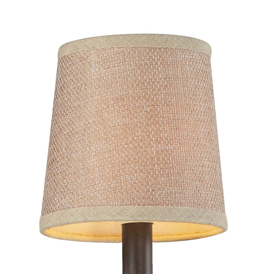 Westmore Lighting 5-in x 5-in Tan Textured Linen Drum Lamp Shade
