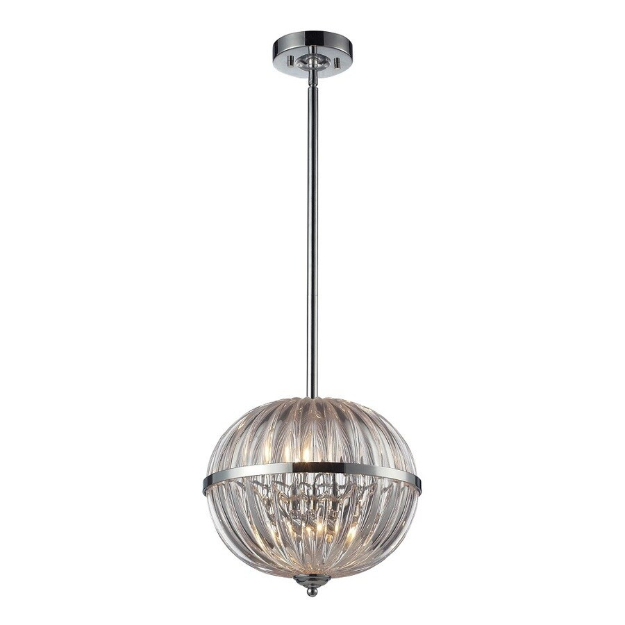 Westmore Lighting Elbrus 12-in Polished Chrome and Clear Crystal Single Crystal Pendant