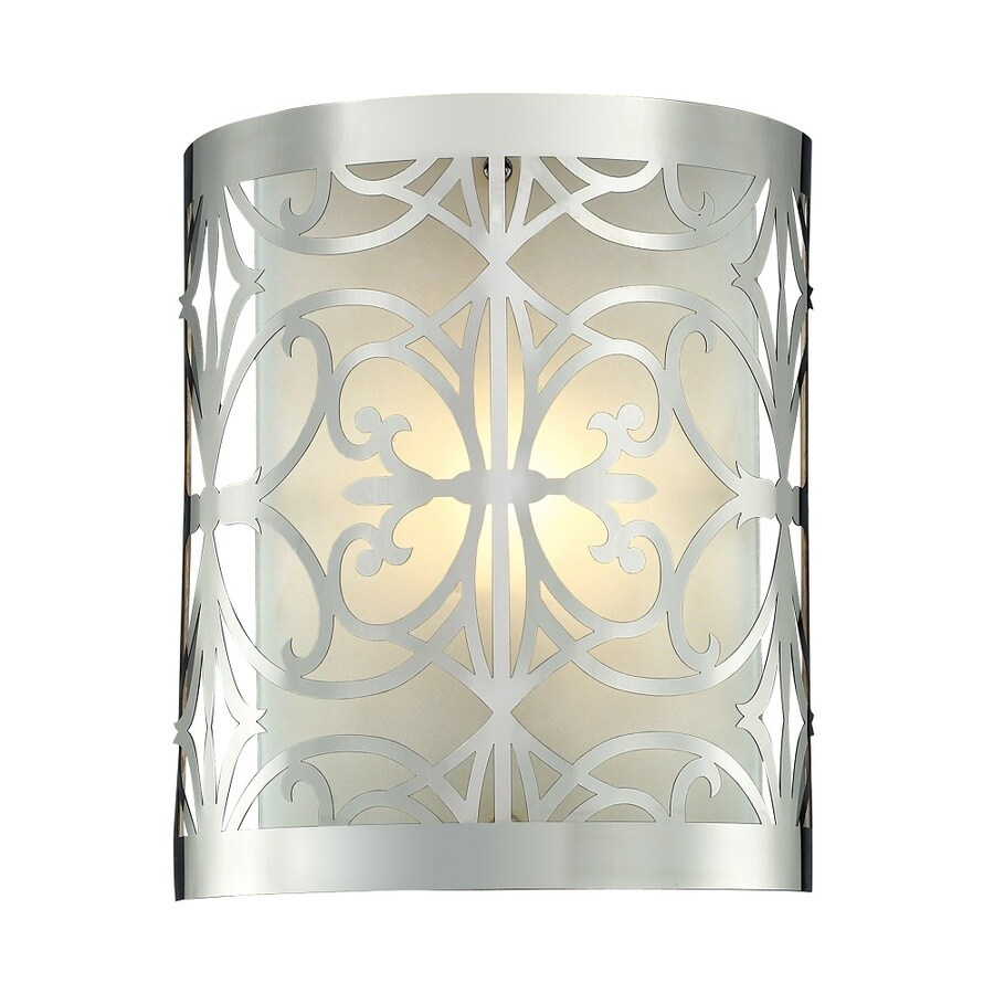 Westmore Lighting Lowell 1-Light Polished Chrome and Frosted Glass Vanity Light
