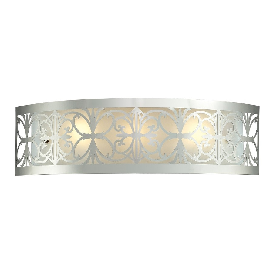 Shop Westmore Lighting Lowell 3-Light Polished Chrome and Frosted Glass Vanity Light at Lowes.com