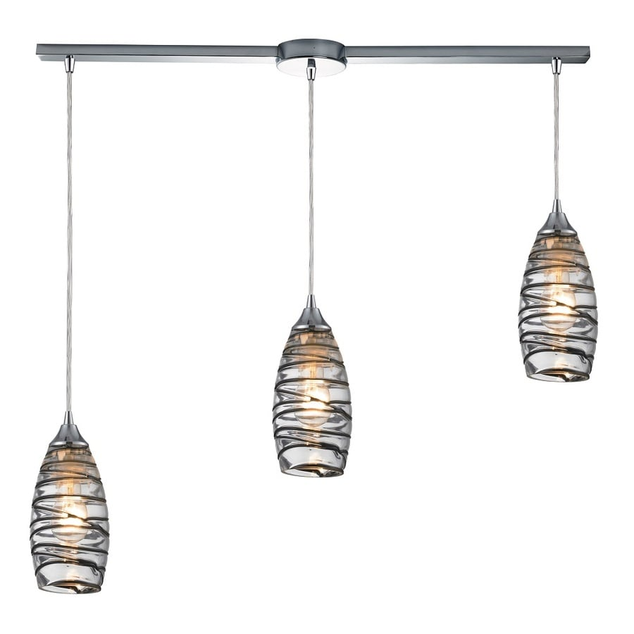 Westmore Lighting Nuvian 36-in Polished Chrome and Ventura Glass Mini Tinted Glass Pendant