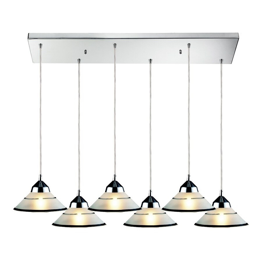 Westmore Lighting Beryl 30-in Polished Chrome and Tinted Glass Mini Tinted Glass Pendant