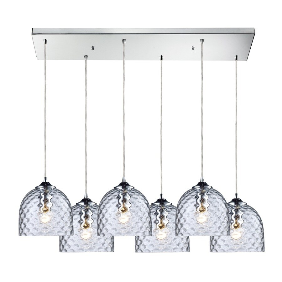 Westmore Lighting Avia 30-in Polished Chrome and Clear Glass Mini Clear Glass Pendant