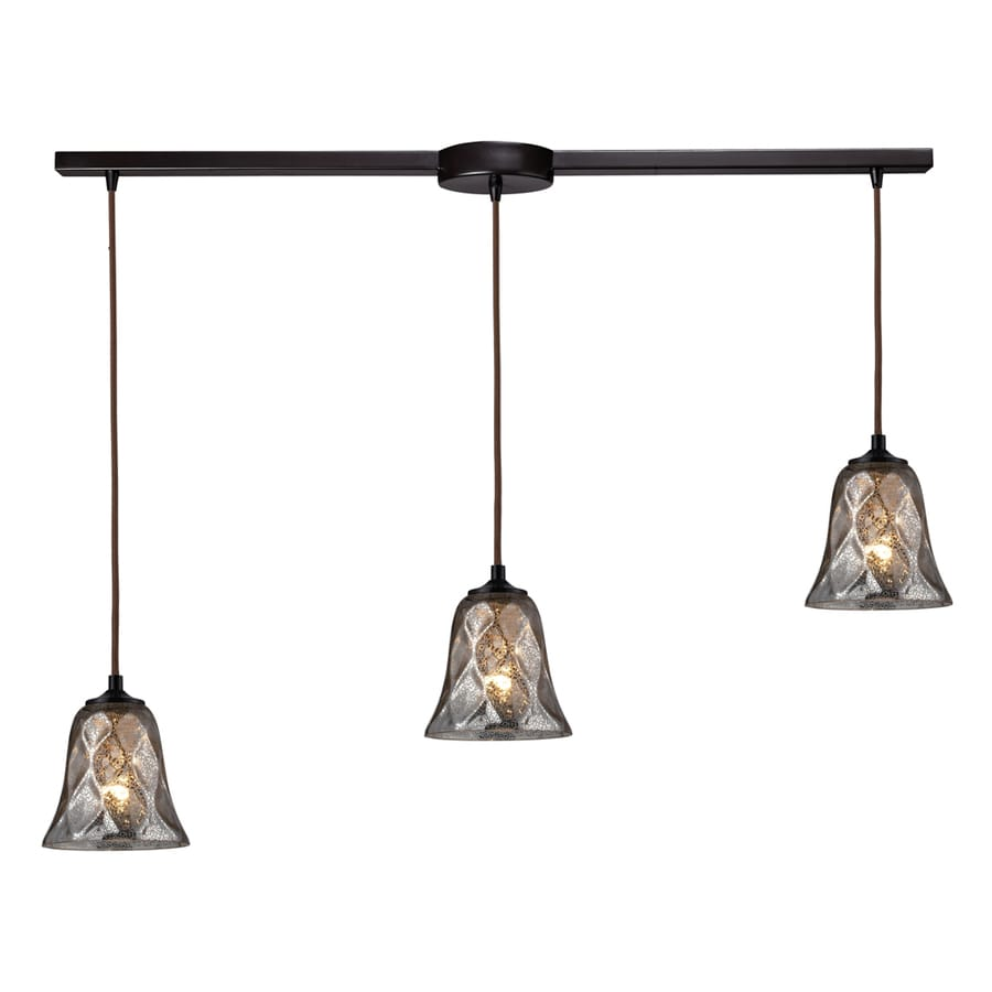 Westmore Lighting Erinfield 36-in Oiled Bronze and Tinted Glass Mini Tinted Glass Pendant