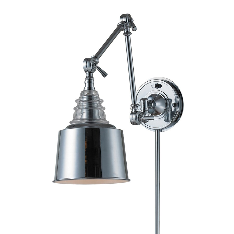 Wall Mounted Picture Lamps : Shop Westmore Lighting 18-in H Polished Chrome Swing-Arm LED Wall-Mounted Lamp with Metal Shade ...