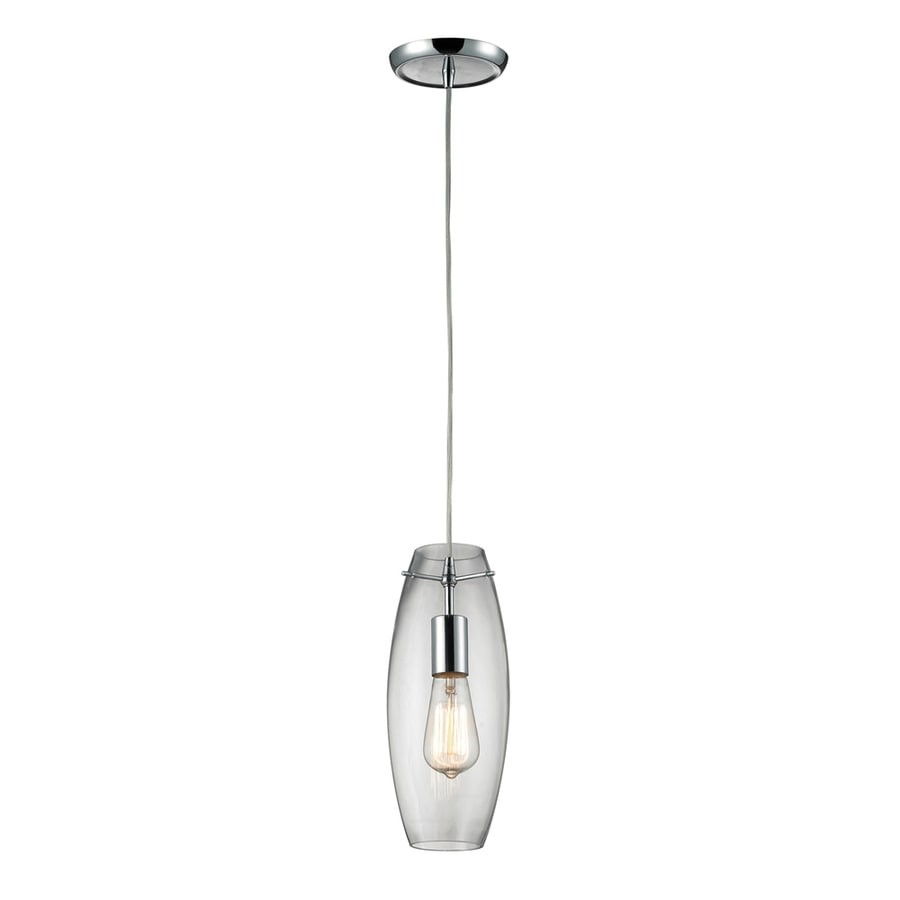 Westmore Lighting Alvingham 5-in Polished Chrome and Clear Glass Mini Clear Glass Pendant