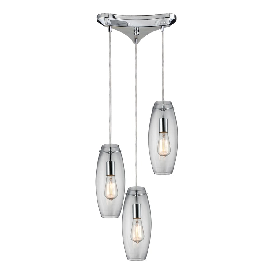 Westmore Lighting Alvingham 10-in Polished Chrome and Clear Glass Mini Clear Glass Pendant