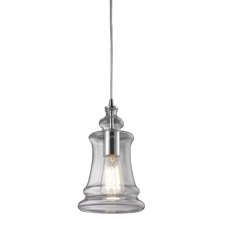 Westmore Lighting Alvingham 6-in Polished Chrome and Clear Glass Mini Clear Glass Pendant