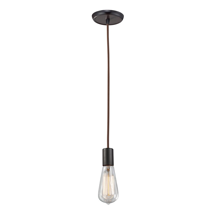Westmore Lighting Alvingham 2-in Oiled Bronze Mini Clear Glass Pendant