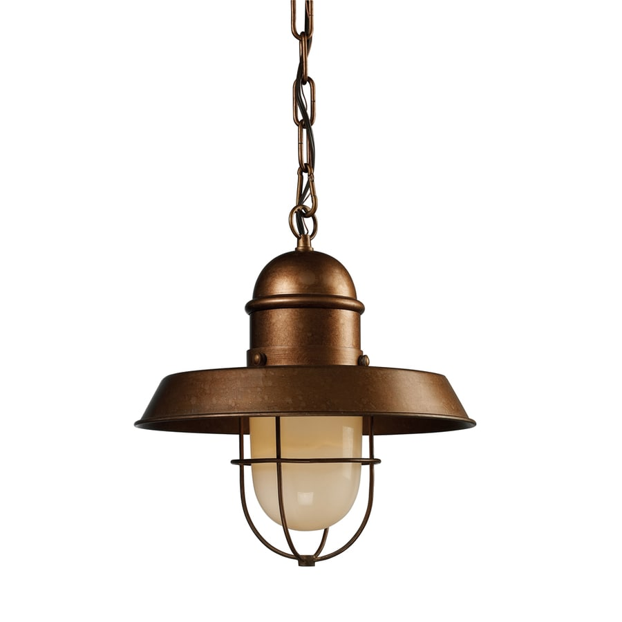 Shop Westmore Lighting Crossens Park 12 In Oxford Copper Rustic Single Pendan