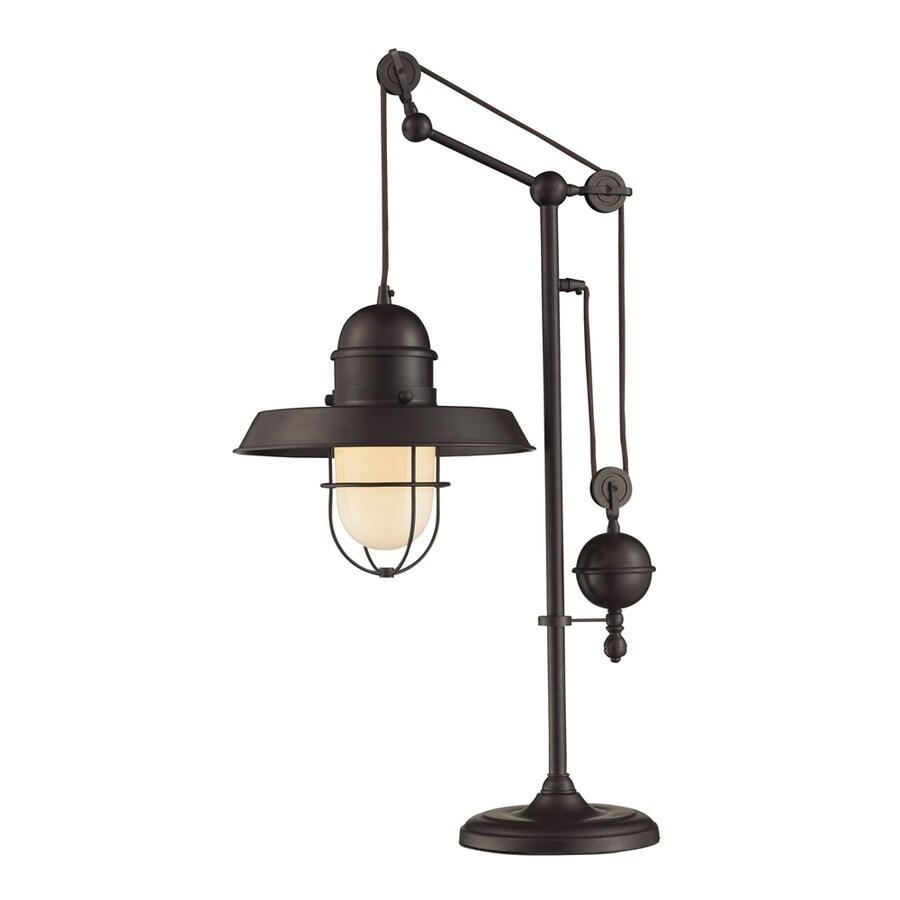 Westmore Lighting Crossens Park 32-in Oiled Bronze Indoor Table Lamp with Metal Shade