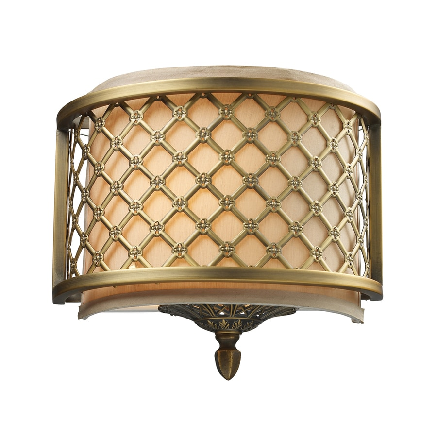 Westmore Lighting Broughton 10-in W 1-Light Antique Brass Pocket Hardwired Wall Sconce