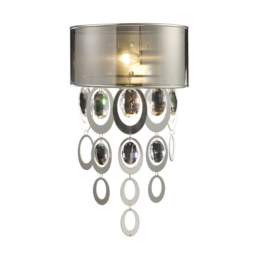 Westmore Lighting Saprierre 11-in W 1-Light Silver Leaf Pocket Hardwired Wall Sconce