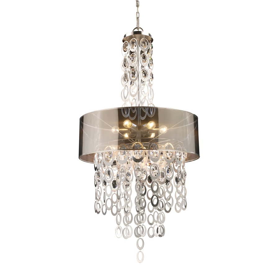 Westmore Lighting Saprierre 26-in Silver Leaf Single Tinted Glass Pendant