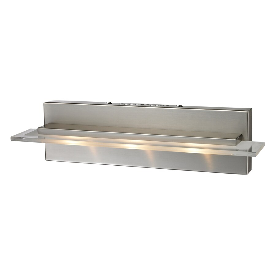 Shop Westmore Lighting Swanley 3-Light Satin Nickel Geometric Vanity Light at Lowes.com