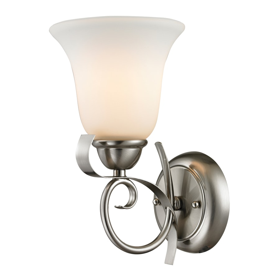 Westmore Lighting Colchester 6-in W 1-Light Brushed Nickel Arm Hardwired Wall Sconce