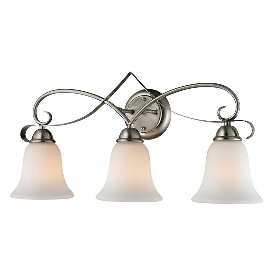 Westmore Lighting Colchester 3-Light Brushed Nickel Bell Vanity Light