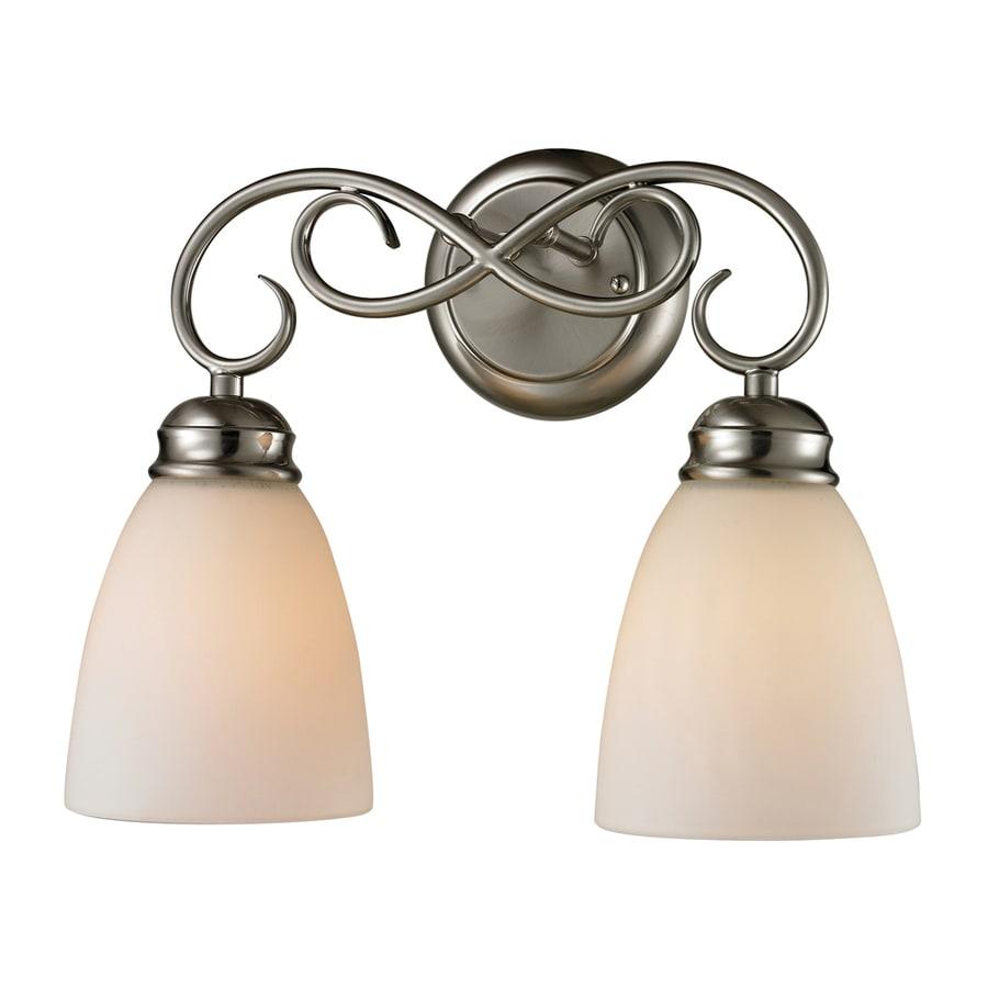 Westmore Lighting Sunbury 2-Light Brushed Nickel Oval Vanity Light