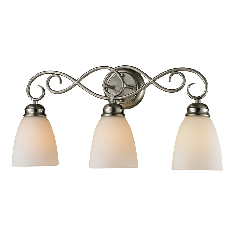 lighting sunbury 3 light brushed nickel oval vanity light at