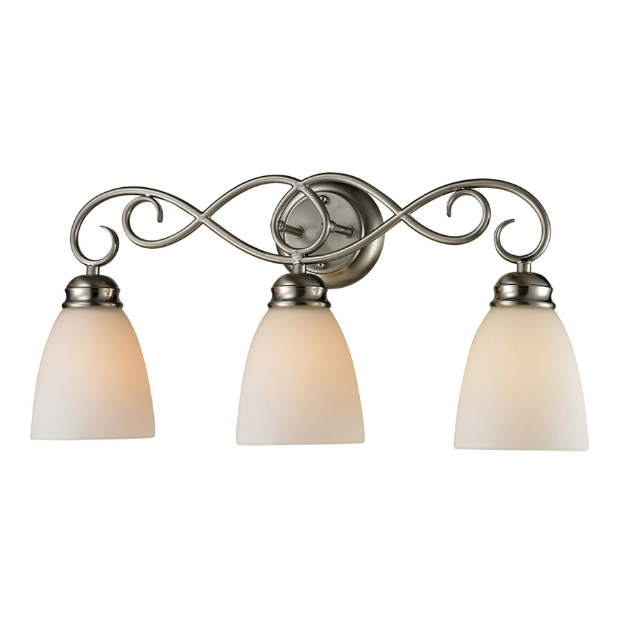 Vanity Lights At Lowes : Shop Westmore Lighting Sunbury 3-Light Brushed Nickel Oval Vanity Light at Lowes.com