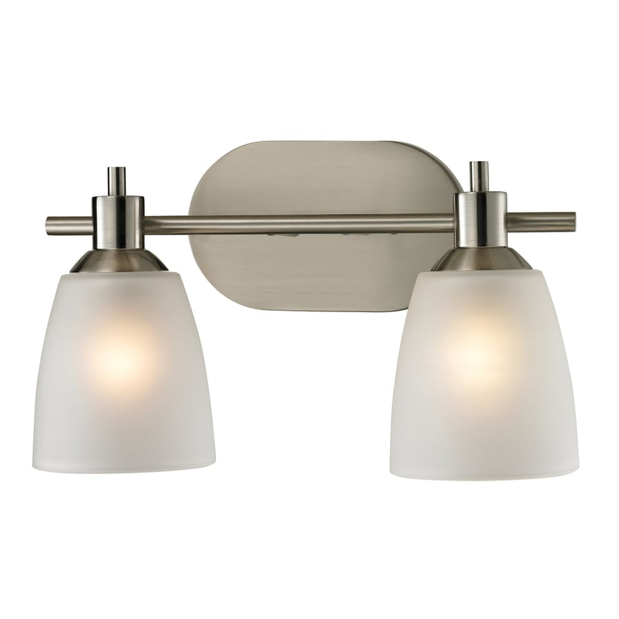 Shop westmore lighting 2 light fillmore brushed nickel for Bathroom vanity lights