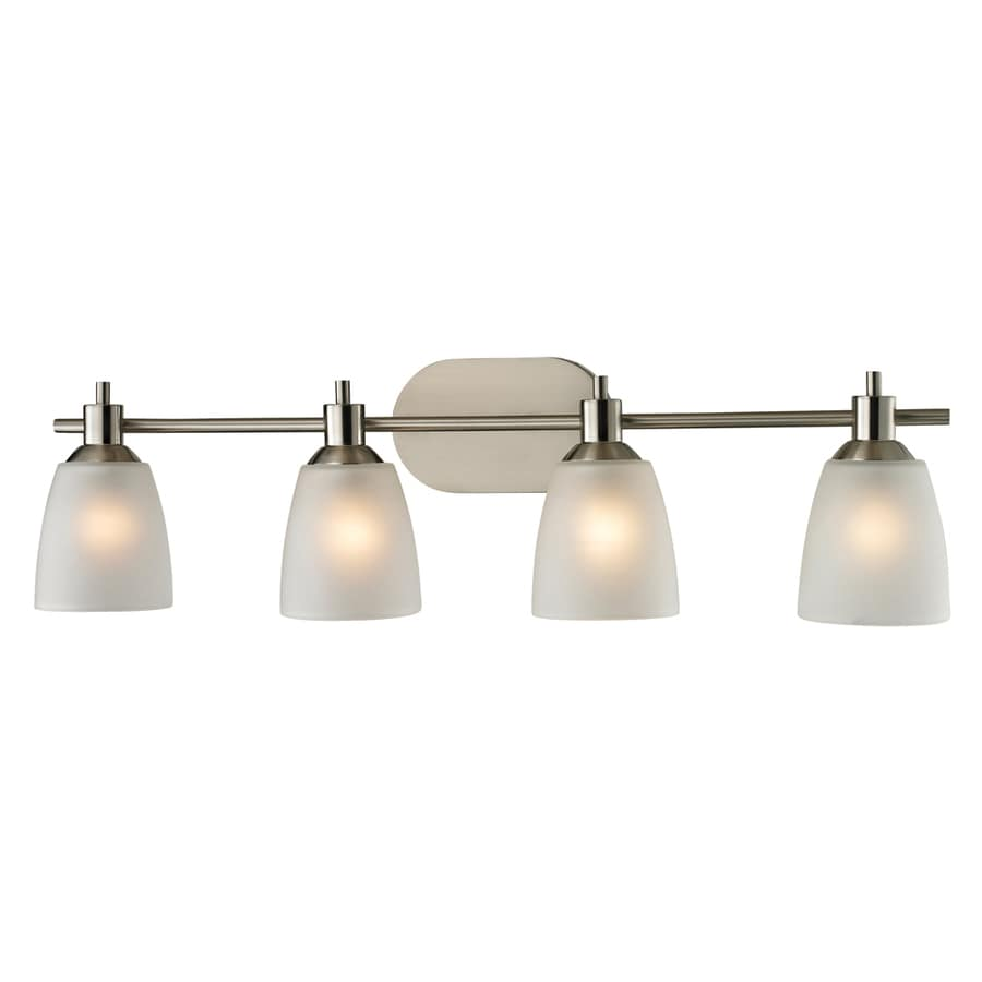 4 Light Vanity Brushed Nickel : Shop Westmore Lighting Fillmore 4-Light Brushed Nickel Oval Vanity Light at Lowes.com