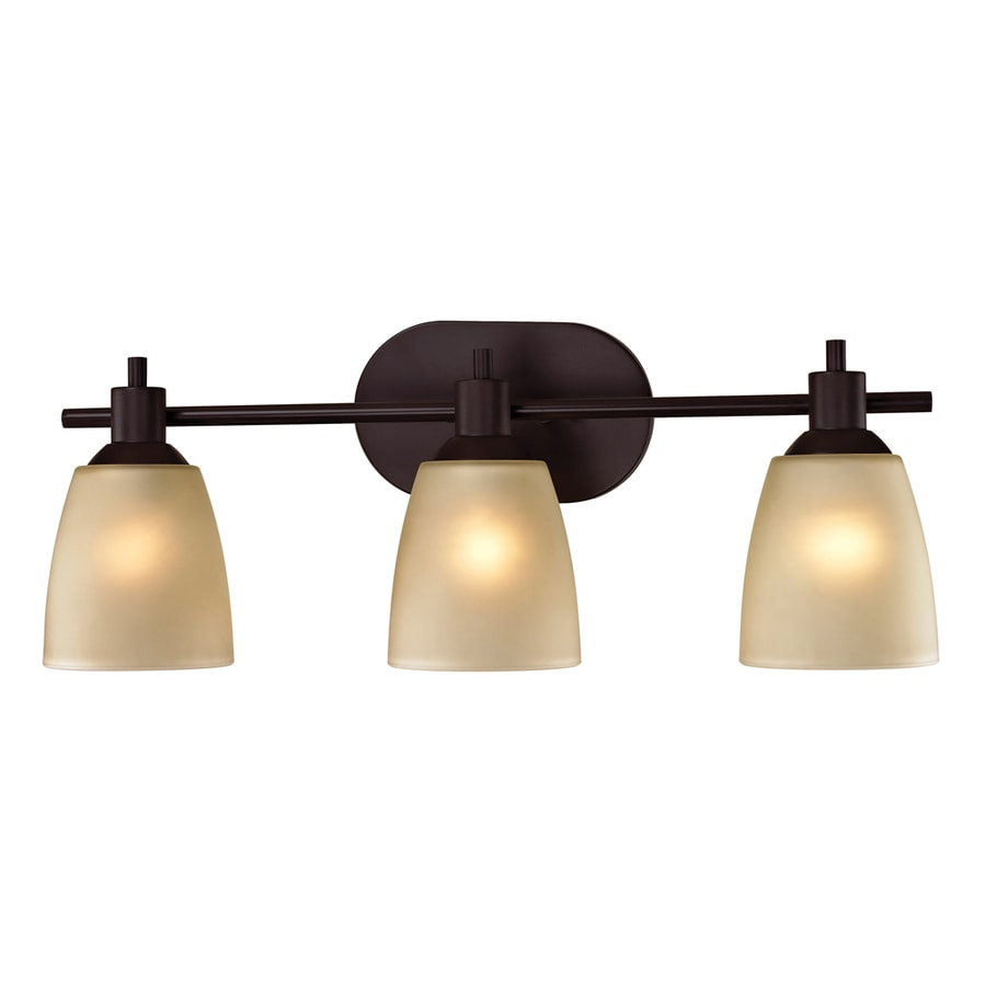 Vanity Lights Oil Rubbed Bronze : Shop Westmore Lighting 3-Light Fillmore Oil Rubbed Bronze LED Bathroom Vanity Light at Lowes.com