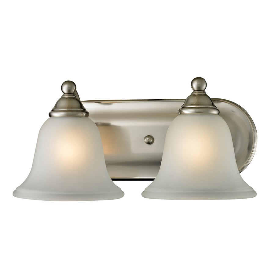 2 Light Vanity Light Brushed Nickel : Shop Westmore Lighting Wyndmoor 2-Light Brushed Nickel Bell Vanity Light at Lowes.com