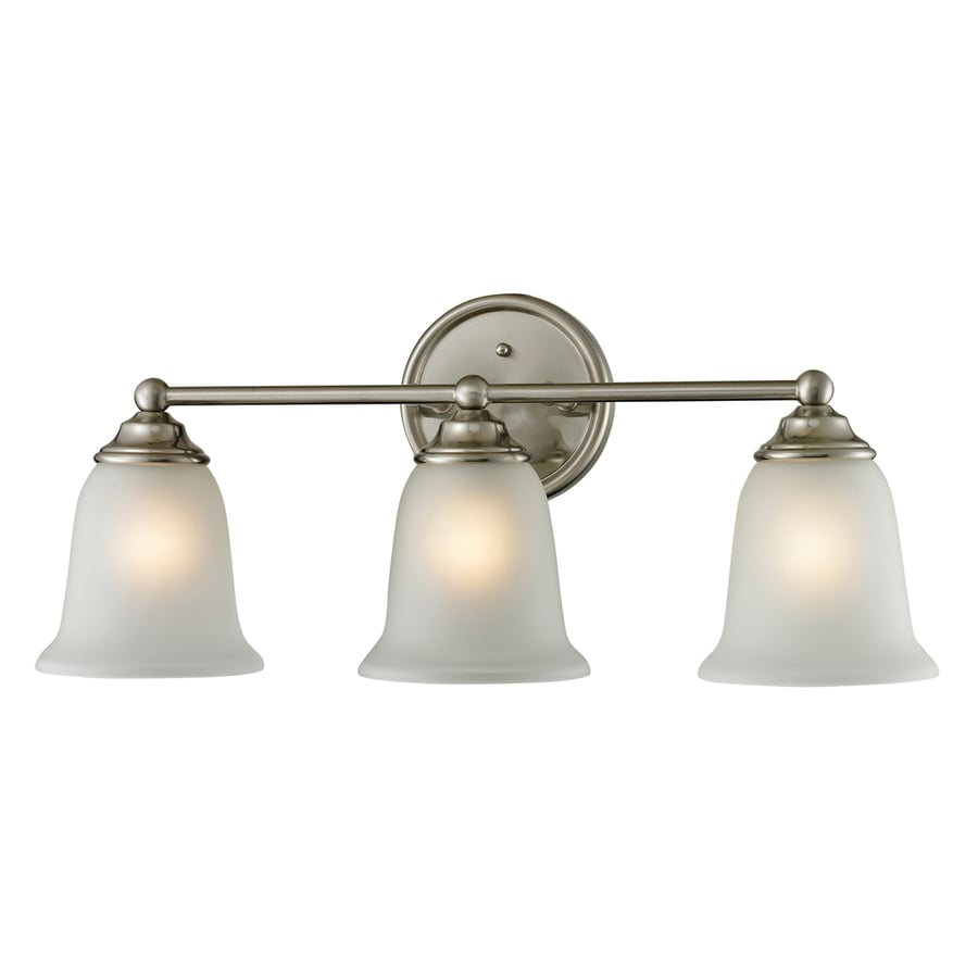 Three Light Bathroom Vanity Light: Shop Westmore Lighting 3-Light Landisville Brushed Nickel LED Bathroom Vanity Light At Lowes.com