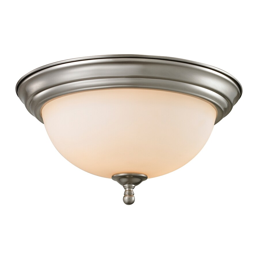 Westmore Lighting Sunbury 13-in W Brushed Nickel LED Ceiling Flush Mount Light