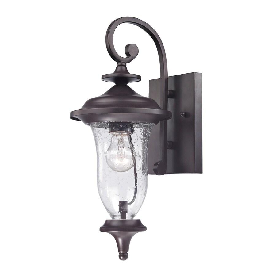 Westmore Lighting Laurelwood 16-in H Oil-Rubbed Bronze Outdoor Wall Light