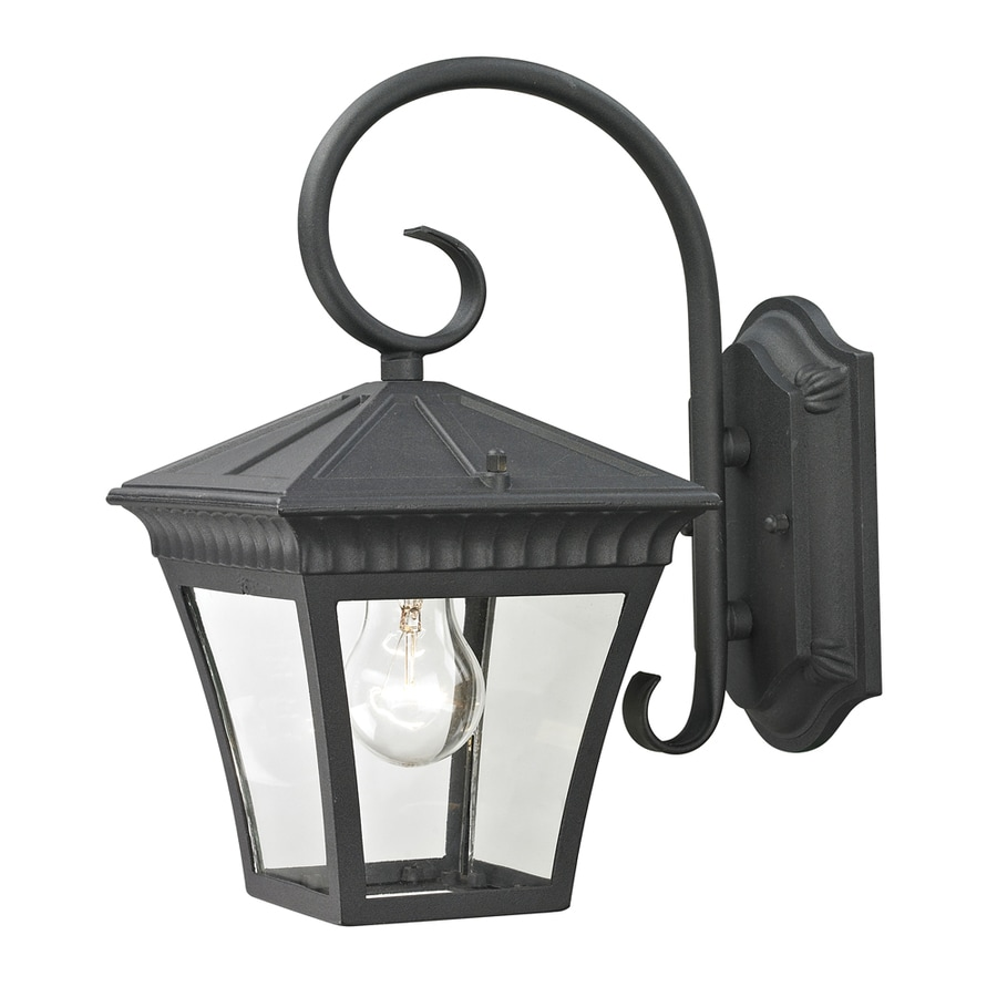 Westmore Lighting Colebrook 12.3-in H Matte Textured Black Outdoor Wall Light
