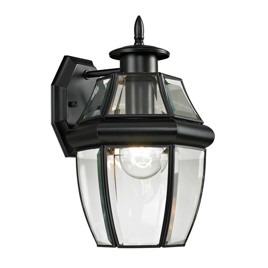 Westmore Lighting Keswick 12-in H Black Outdoor Wall Light
