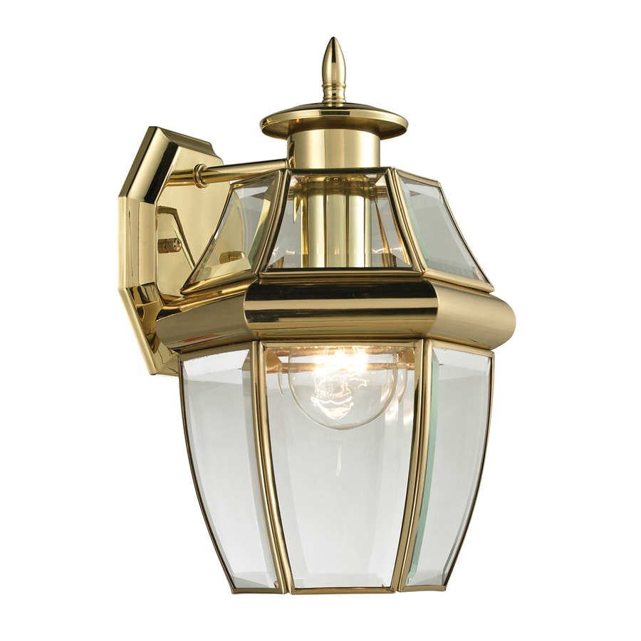 Brass Outdoor Wall Sconces : Shop Westmore Lighting Keswick 12-in H Antique Brass Outdoor Wall Light at Lowes.com