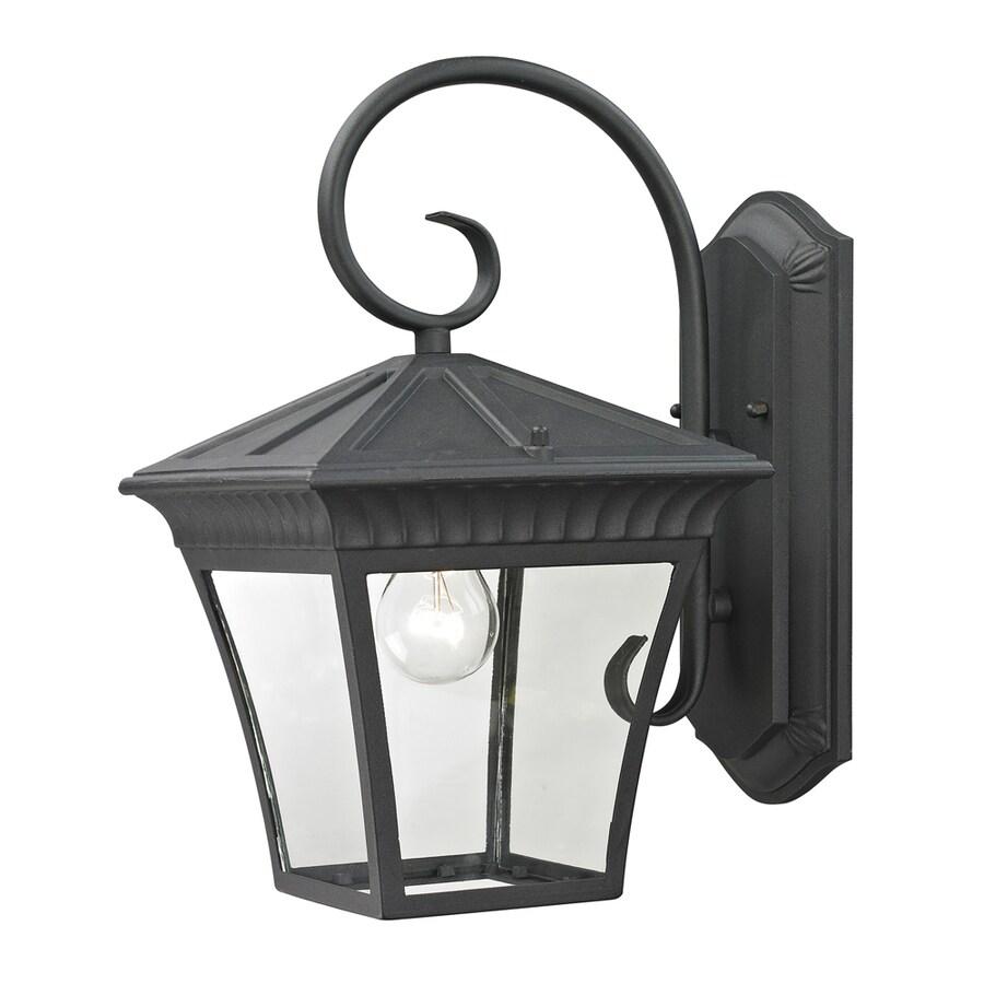 Westmore Lighting Colebrook 15.3-in H Matte Textured Black Outdoor Wall Light