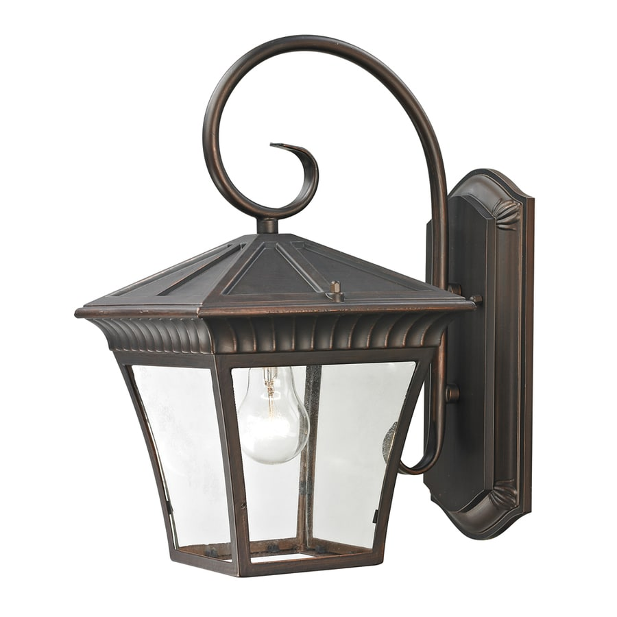 Westmore Lighting Colebrook 15.3-in H Hazelnut Bronze Outdoor Wall Light